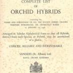 Sander's list σκανάρισμα από τεύχος του 1946.