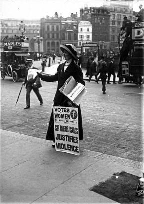 Μια Σουφραζέτα. Αγγλία 1912.